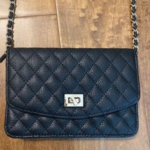 Quilted black crossbody